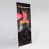 X-Banner Ausführung Exklusiv, 500g/m² PVC (Brandschutzklasse B1) für wechselnde Motive mit einer sichtbaren Präsentationsfläche bis zu 140  x 250 cm.