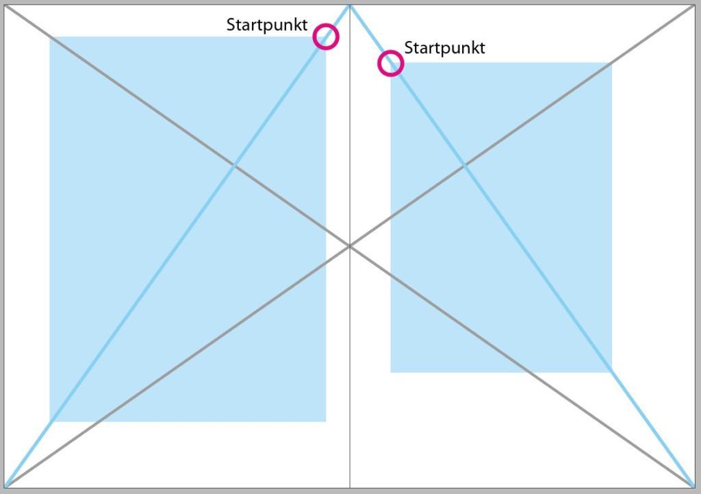 Satzspiegel mit Hilfe von Diagonalen