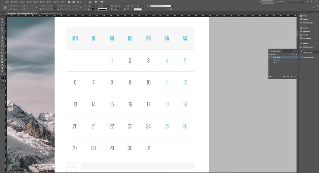 InDesign Tabellen erstellen: Daten einfügen