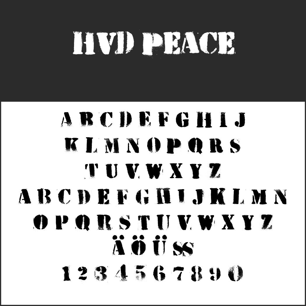 """Graffiti Schrift """"HVD Peace"""""""