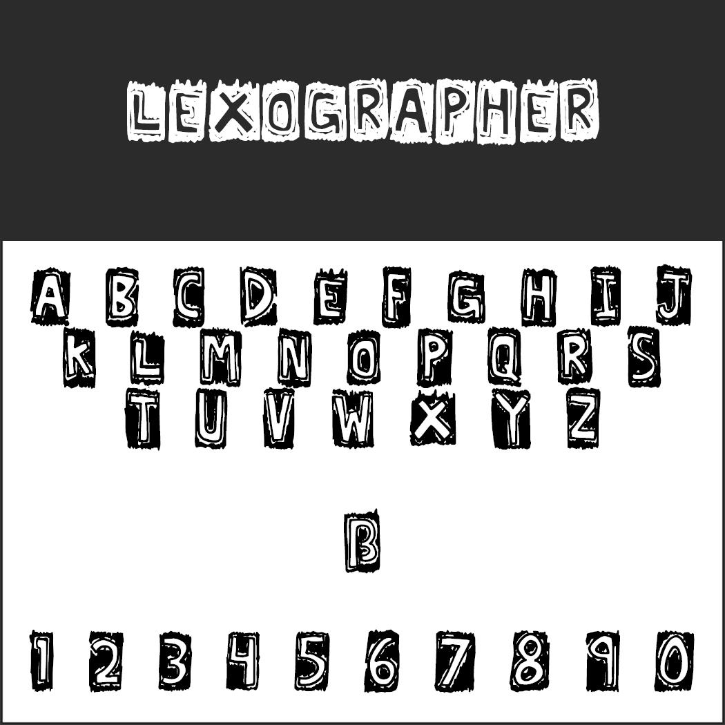"""Schriftart """"Lexographer"""""""