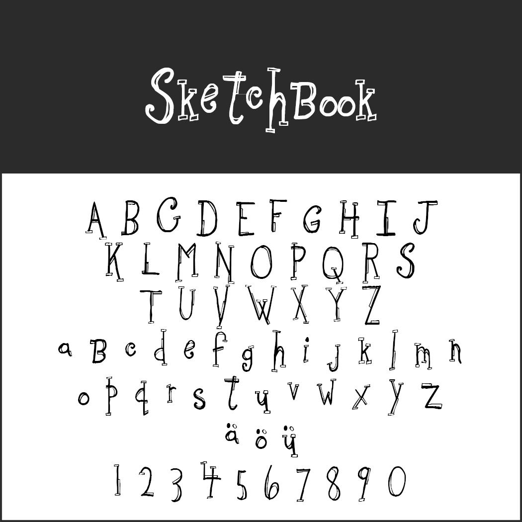 """Schriftart """"Sketchbook"""""""