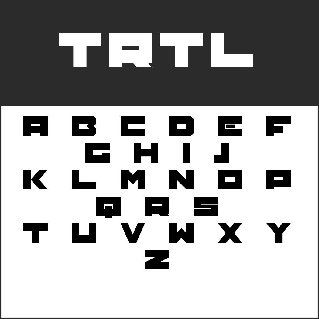 """Schriftart """"TRTL"""""""