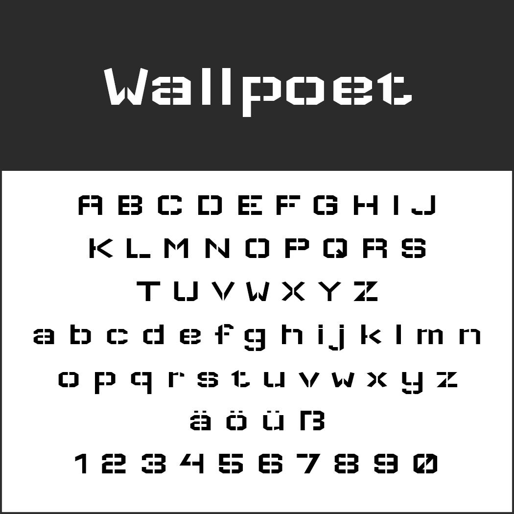 """Graffiti Schrift """"Wallpoet"""""""