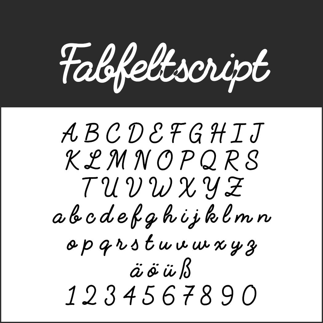 """Coole Schrift """"Fabfeltscript"""""""