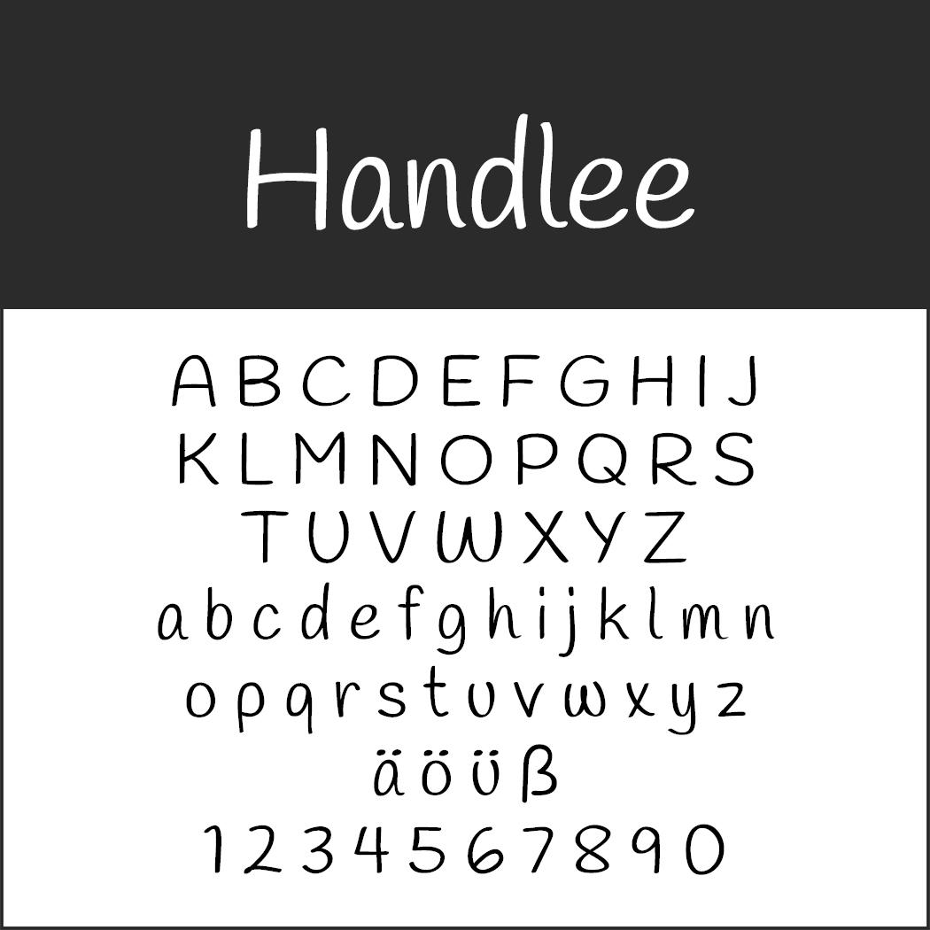 Coole Schriftart: Handlee