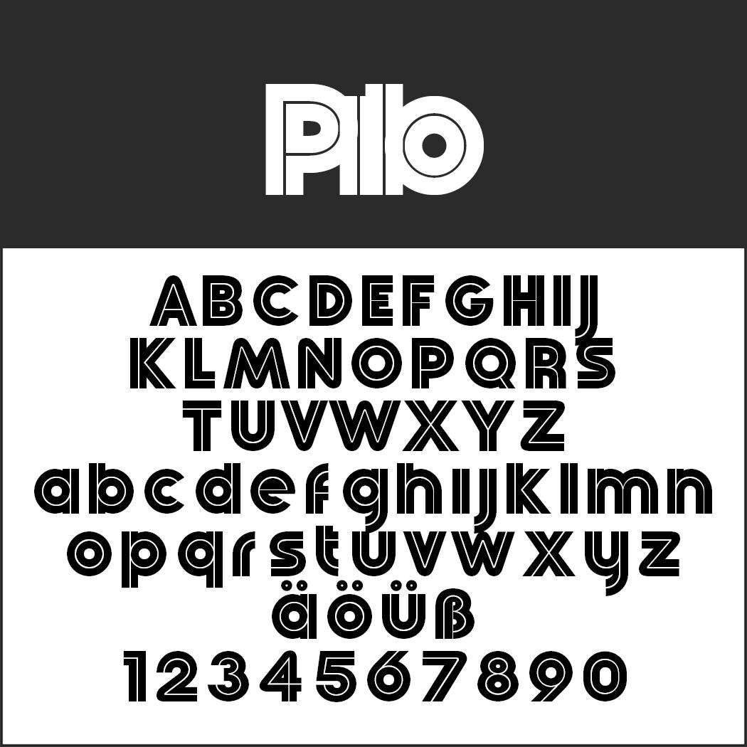 Coole Schriftart: Pilo